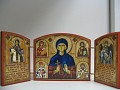 medium triptych with prayers